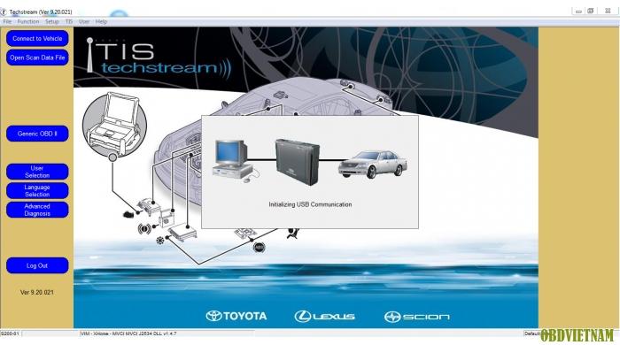 Phần mềm chẩn đoán Toyota Techstream Ver 9.20.021 ( Tháng 09/2014 ))