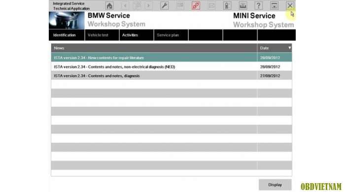Phần mềm chẩn đoán BMW ICOM phiên bản mới nhất 2014