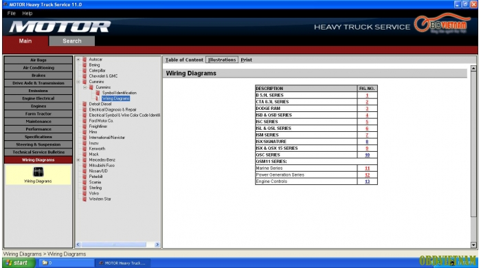 Phần mềm tra cứu MOTO HEAVY TRUCK  2011