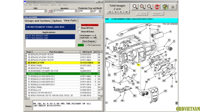 Phần mềm tra mã phụ tùng ISUZU EPC  6/2013