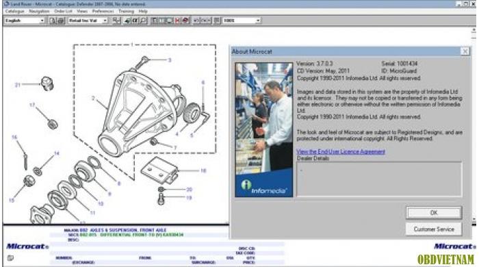 Phần mềm tra mã phụ tùng LANGE ROVER MICROCAT 11/2014