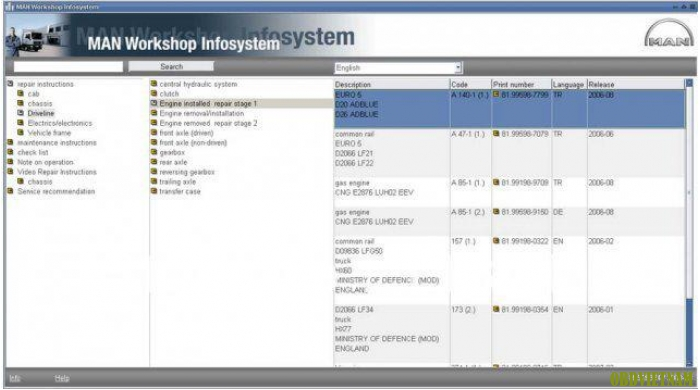 Phần mềm tra mã  MANWIS WORKSHOP