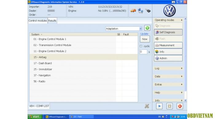 Phần mềm chẩn đoán  Odis 2.0.2