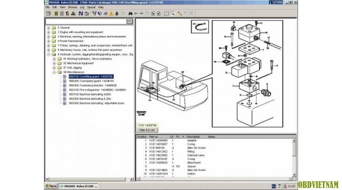 Phần mềm tra cứu Volvo Prosis  2013