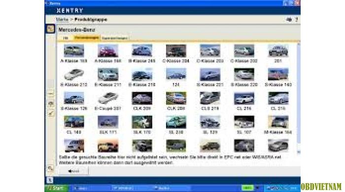 Phần mềm chẩn đoán XENTRY DAS 12.2014